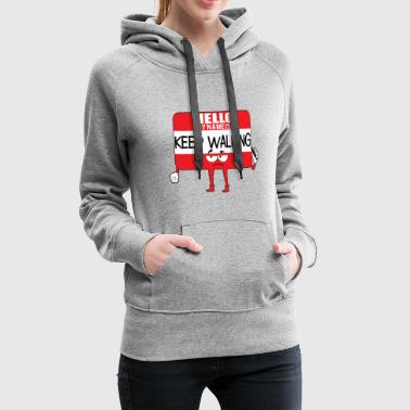 Comic Hello Name - Women's Premium Hoodie