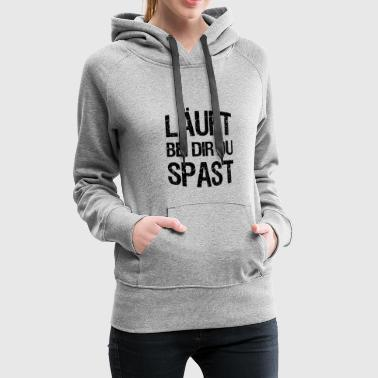 With you, you spast funny gift idea - Women's Premium Hoodie