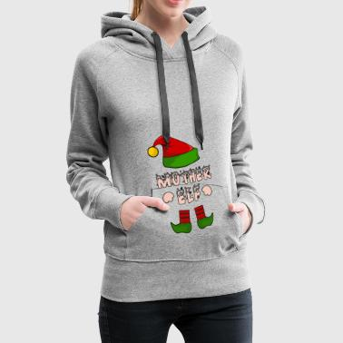 Mother Elf - Mom Elf - Christmas Gift - Women's Premium Hoodie