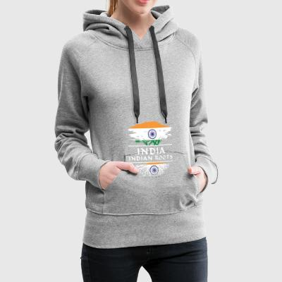 India Indian Roots T Shirt Gifts - Frauen Premium Hoodie