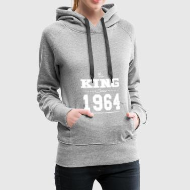 Her King since Partner Valentine's Day couple 1964 ge - Women's Premium Hoodie