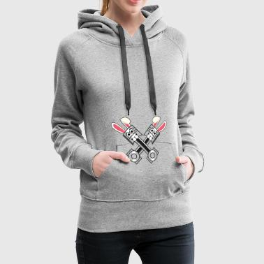Piston Auto Mechanic Easter Bunny Easter Gift H - Women's Premium Hoodie