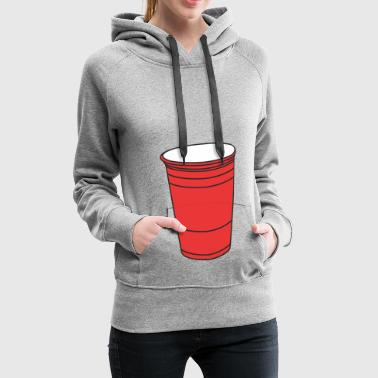 Red college mug - Women's Premium Hoodie
