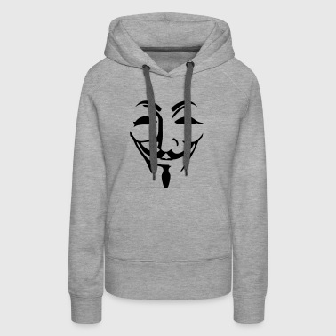 Anonymous mask fawkes - Women's Premium Hoodie