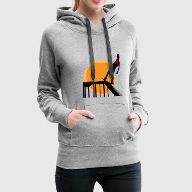 Halfpipe in the Sunset - Love to skate - Frauen Premium Hoodie