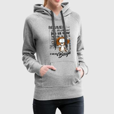I Am Beagle - Tricolore IT - Felpa con cappuccio premium da donna
