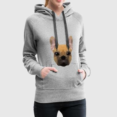 French Bulldog - low poly style - Women's Premium Hoodie