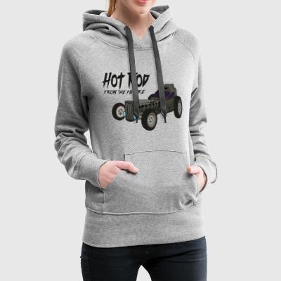 Hot Rod from the future v1 Kmlf style - Sweat-shirt à capuche Premium pour femmes