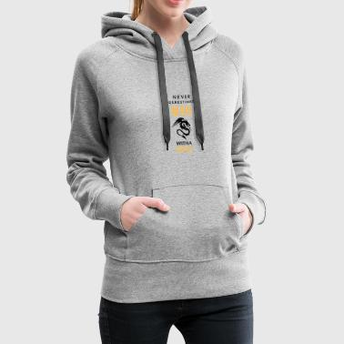 Never Underestimate a Man with a Tatoo! - Women's Premium Hoodie