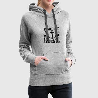 North Sea coast - stenlogo_Anker_black - Women's Premium Hoodie