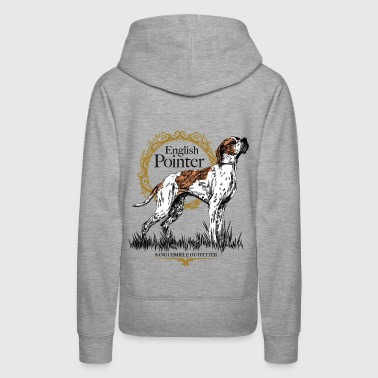 pointer on white 15 - Women's Premium Hoodie