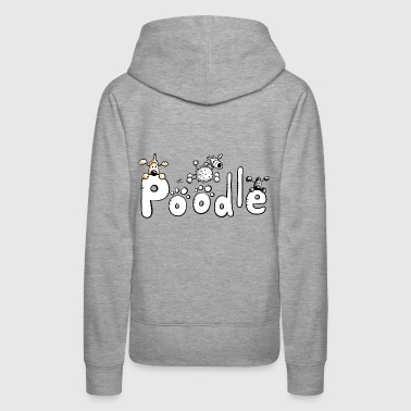Poodle Font - Dog - Dogs - Comic - Women's Premium Hoodie