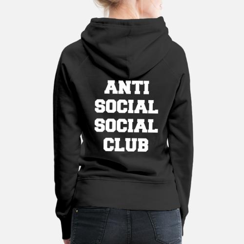 e7af0a119fb6 Anti social social club Women s Premium Hoodie