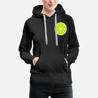 Limette, Lime, lemon, food, vegan, summer, party - Women's Premium Hoodie