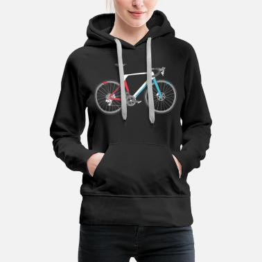 Road road bike bicycle biker road bike symbol - Women's Premium Hoodie