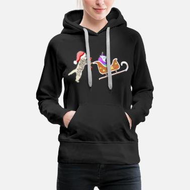 unicorn cat christmas shirt - Women's Premium Hoodie