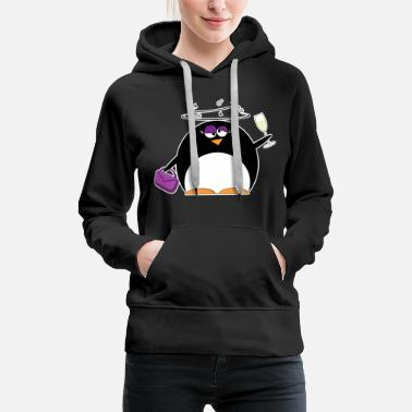 Party Party Pinguin - Frauen Premium Hoodie