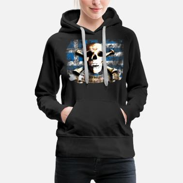 Schedel skull_and_flag_072013_greece_a - Vrouwen premium hoodie