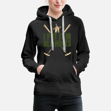 Sports Golf designs - Women's Premium Hoodie