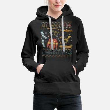 Ugly Christmas Harry Potter All I Want For Christmas Ugly Xmas - Women's Premium Hoodie