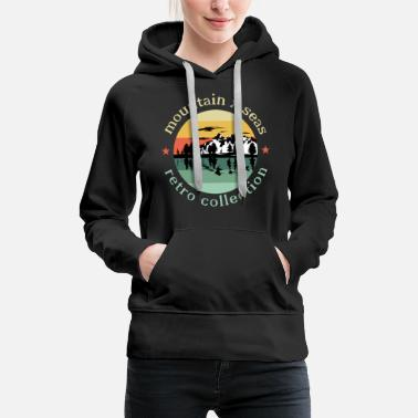 Vintage vintage mountains - Women's Premium Hoodie