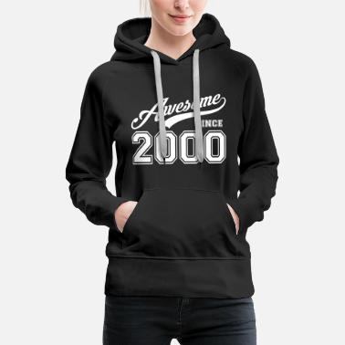 College Style Awesome since 2000 birthday birthday birth year - Women's Premium Hoodie
