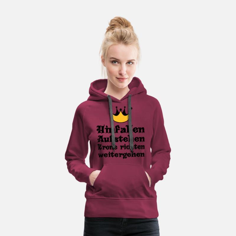 hinfallen Aufstehen Krone Richten Weitergehen Pullover Sweater S M L XL XXL