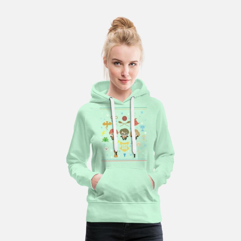 Harry Potter Ugly Christmas Chibi Design Premiumluvtröja dam svart