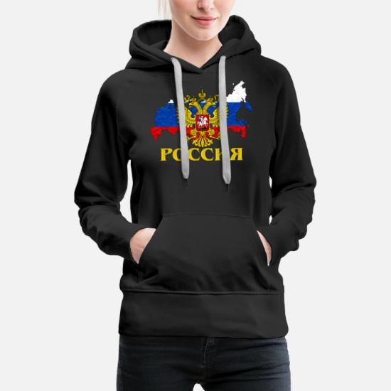 Poccnr shirt Russia Russland russische shirt udssr Frauen Premium Hoodie Schwarz