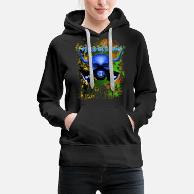 Loveparade Techno,Raver,Skull,Techno,Hard core,House,Music, - Frauen Premium Hoodie