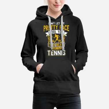 Court Tennis tennis player club gift gift idea - Women's Premium Hoodie