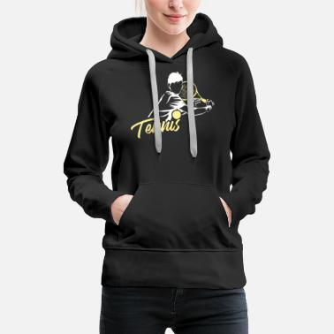 Tennis Racket Tennis Tennis Player Tennis Racket Racket - Women's Premium Hoodie