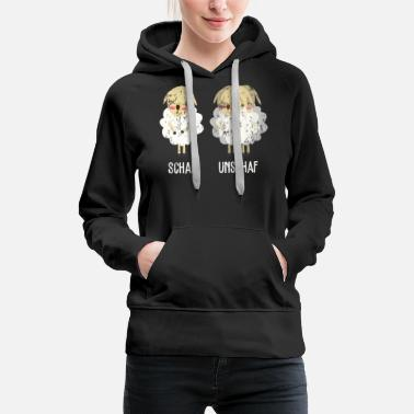 Farm Sheep Unschaf retro - Women's Premium Hoodie