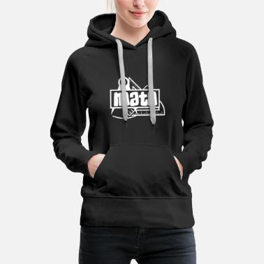 Black & White Math - Black White - Women's Premium Hoodie
