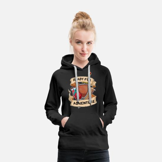 Game Hoodies & Sweatshirts - W20 DND D & D Larp RPG Adventure Game D20 Dice - Women's Premium Hoodie black