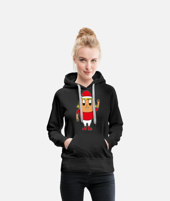 Anime Hoodies & Sweatshirts - Christmas mom egg - Women's Premium Hoodie black