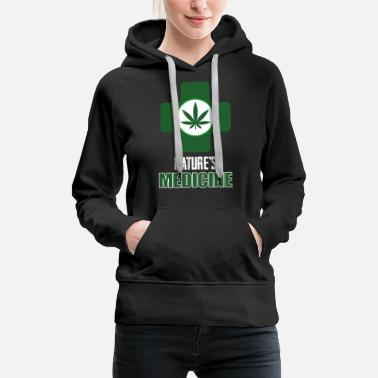 Marie Jane Medical Marijuana Natures Medicine Pot Leaf - Women's Premium Hoodie