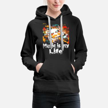 Turntable Music is my life DJ Pitch Turntable Rave - Women's Premium Hoodie