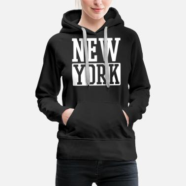 Ny New York - Sweat à capuche premium Femme