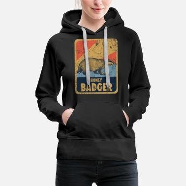 Miód Borsuk Honey badger game - Premium bluza damska z kapturem