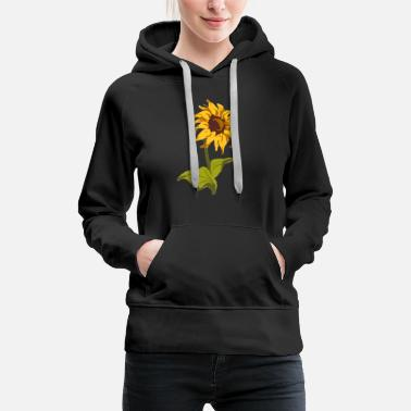Love Sunflower Classic gift for florists - Women's Premium Hoodie