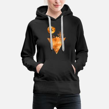 Zombie Halloween witch pumpkin - Women's Premium Hoodie
