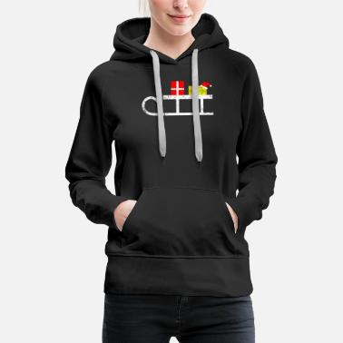 Scene Sled with presents Christmas - Women's Premium Hoodie