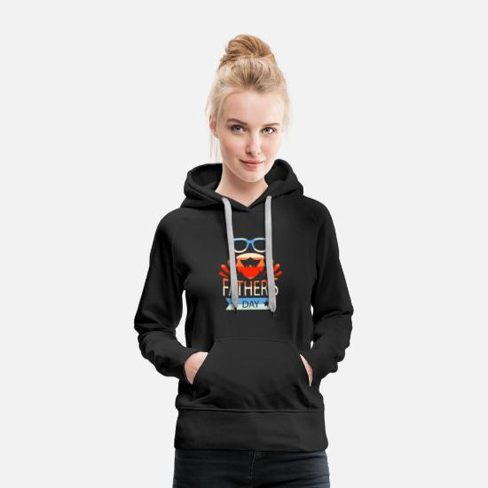 Love Hoodies & Sweatshirts - Father's Day Retro Art Gift Special - Women's Premium Hoodie black
