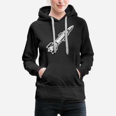 Missile Missile missile diagonal white - Women's Premium Hoodie