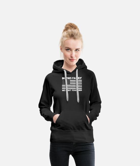 Cancer Survivor Hoodies & Sweatshirts - Uterine Cancer We Fight Together Gift - Women's Premium Hoodie black