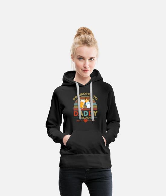 Arrow Hoodies & Sweatshirts - Promoted to Daddy est 2020 Vintage Arrow T Shirt - Women's Premium Hoodie black