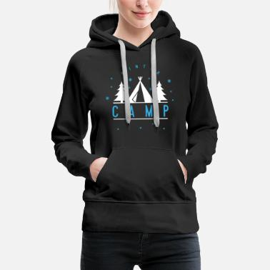 Snowflake Winter camp tent mountains valley forest gift - Women's Premium Hoodie