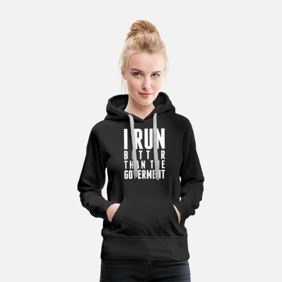 Funny Hoodies & Sweatshirts - run - Women's Premium Hoodie black