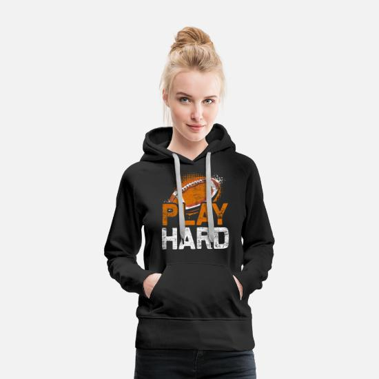Stadium Hoodies & Sweatshirts - American football sport - Women's Premium Hoodie black